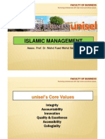 Islamic Management Overview