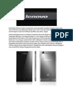 Perlahan Spesifikasi Utama Lenovo K910 Terungkap