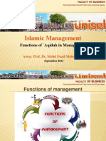 Islamic Management - Functions of `Aqidah (Believe) in Management