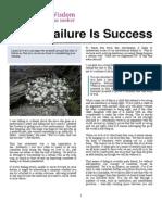 When Failure is Success