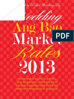 Wedding Ang Bao Rates 2013 by Perfect Weddings.Sg