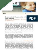 Gesundmachende Pflanzenextrakte- Dr. Rath Health Programs