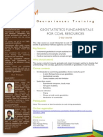 Geov-Mining Geostatistics Coal Resources