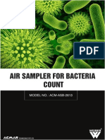 Air Sampler for Bacteria Count