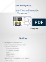 Sub 10 nm CNT transistor