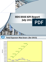 HDS HSSE Key Performance Indicator July 2013
