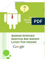 Android Interview Question And Answer Latest For fresher