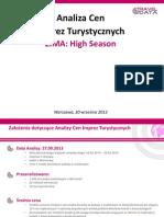 Analiza Cen Imprez Turystycznych (30.09.13)