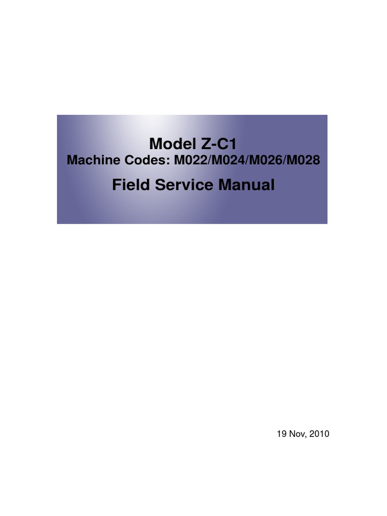 Ricoh MP C300 Service Manual