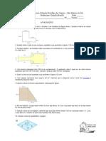 avaliação perimetro e area 9A