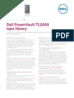 PowerVault TL2000 Tape Library Spec Sheet