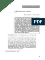 La (in) Definicion Del Derecho