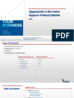 Opportunity in the Indian Gypsum Products Market_Feedback OTS_2013