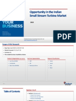 Opportunity in the Indian Small Stream Turbine Market_Feedback OTS_2013