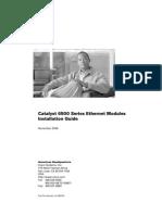 Cisco Ethernet Module Installation