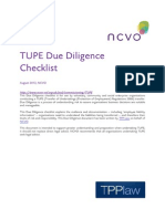 TUPE Due Diligence Checklist