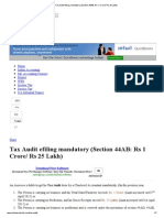 Tax Audit Efiling Mandatory (Section 44AB_ Rs 1 Crore_ Rs 25 Lakh)