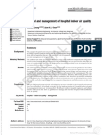 Control and Management of Hospital Indoor Air Quality