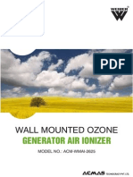 Wall Mounted Ozone Generator Air Ionizer