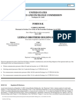 Lehman Brothers Holdings Inc. – Monthly Operating Report filed with the Bankruptcy Court on July 8, 2009
