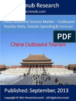 Worldwide – China Outbound Tourists, Tourists Share & Forecast