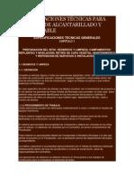 ESPECIFICACIONES TÉCNICAS PARA SISTEMAS DE ALCANTARILLADO Y AGUA POTABLE