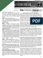 Koinonia Vol 8 Issue 5