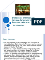 Starbucks' Strategy and Internal Initiatives to Return- Final Larry ppt (2)