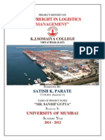 152224269 Sea Freight in Logistics Management