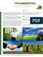 ETICAMBIENTE® Sustainability Management and Communications Consulting - Company Brochure (Italian Version) - September 2013 Italian Brochure September 2013