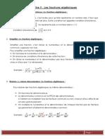 Théorie Fractions math chapitre 9