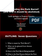 Understanding the Pork Barrel  (and why it should be abolished) by Prof Monsod