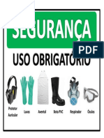 Placa Obrigação EPIs