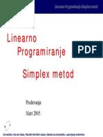Simplex Linearno Programiranje 2005