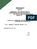30064537 Proiect Casa de Locuit P E