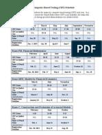 SOA, Timetable