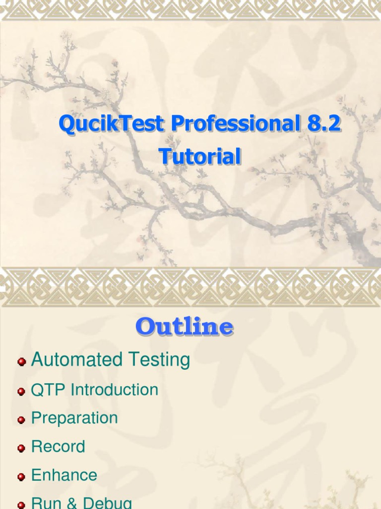 First qtp tutorial web browser parameter computer programming baditri Gallery