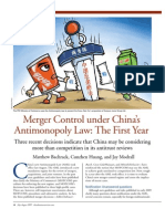 Merger Control under China's AML
