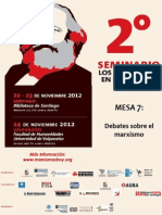 Dossier 2° Seminario Los Marxismos en el Siglo XXI. Mesa 7 Debates sobre el marxismo