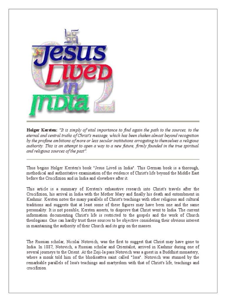 Jesus lived in india jesus resurrection of jesus fandeluxe Images