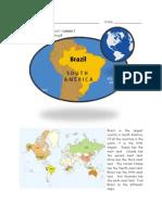 Travel Brazil Worksheets