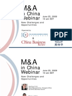 USCBC M&A in China Webinar, 2009