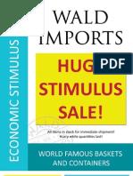 Wald Imports-Stimulus Sale
