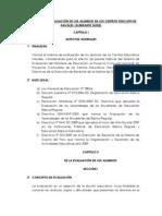 REGLAMENTO DE EVALUACIÓN DE LOS ALUMNOS DE LOS CENTROS EDUCATIVOS NAVALES (ACTUALIZADO)