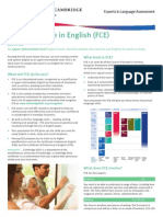 FCE Fact Sheet