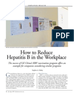 How to Reduce Hepatitis B in the Workplace, Jul-Aug 2009 CBR