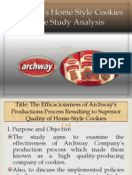 BUS57Archway's Home Style Cookies Case Study Analysis