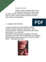 Adab Menulis Komen Dan Status Di Facebook