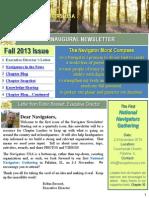 Navigators Inaugural Newsletter - Fall 2013