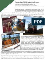 Friend Ships Activities Report September 2013